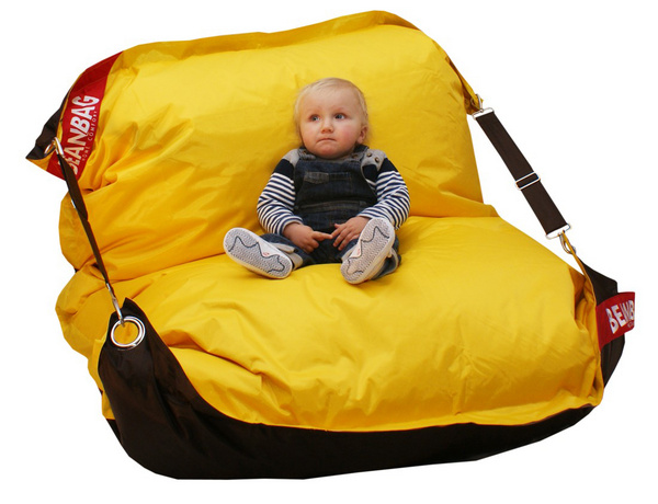 Sedací pytel Comfort DUO brown - yellow